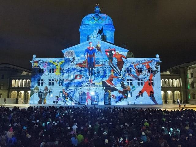 Lichtspektakel Rendez-vous Bundesplatz