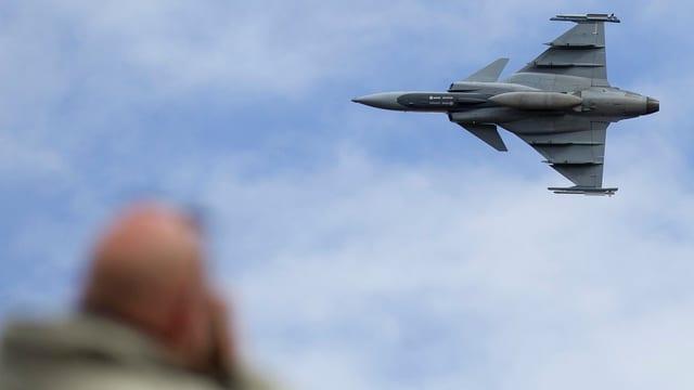 Gripen an einer Flugshow bei Meiringen.