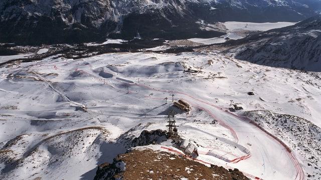 Luftaufnahme Corviglia