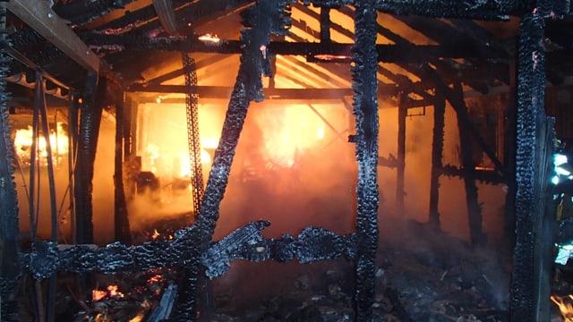 Brennende Scheune