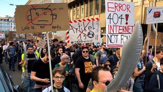 Demonstration in Zürich.
