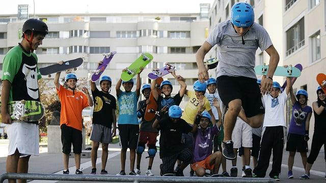 Ein Skate-Workshop der «Schtifti Foundation»