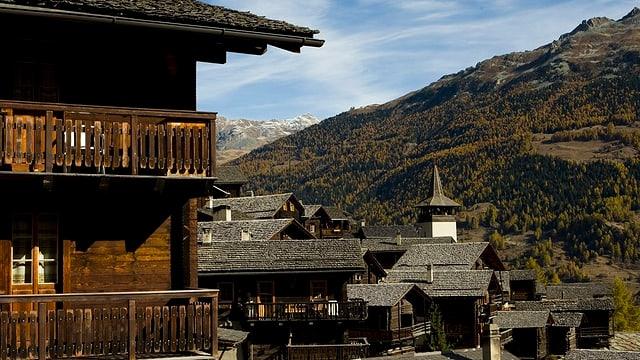 Blick auf das Dorf Grimentz.