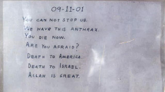 ein Foto eines Hassbriefs