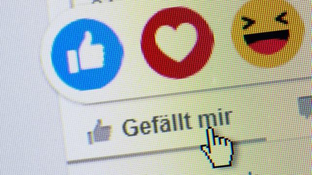 Like-Button auf Facebook.