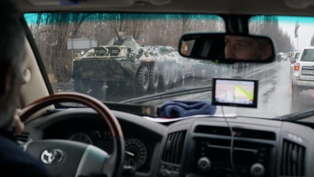 Bilde eines Panzerkonvois