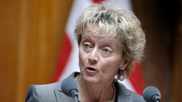 Finanzministerin Eveline Widmer-Schlumpf in Ständerat