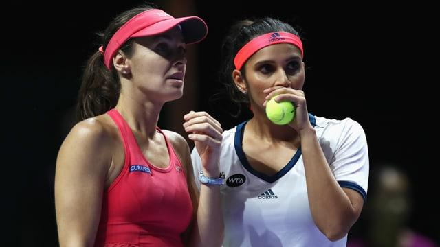 Martina Hingis und Sania Mirza.