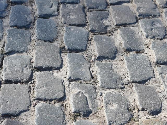 Die legendären Pflastersteine - hier am Oude Kwaremont.