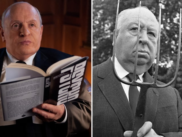 Master of Suspense: Sir Anthony Hopkins und Sir Alfred Hitchcock.