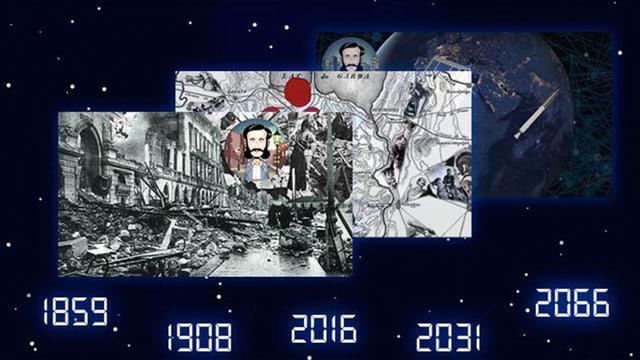 Titelbild der Animationsreihe «Zeitmaschine».