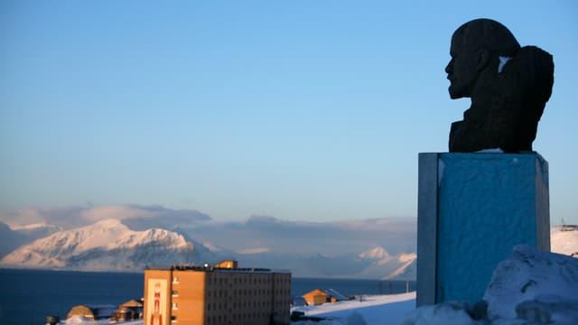Lenin-Büste in Barentsburg
