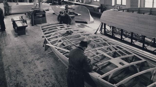Bootsbauhalle der Firma Boesch