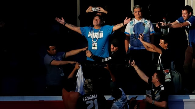 Maradona sorgte für beste Unterhaltung.