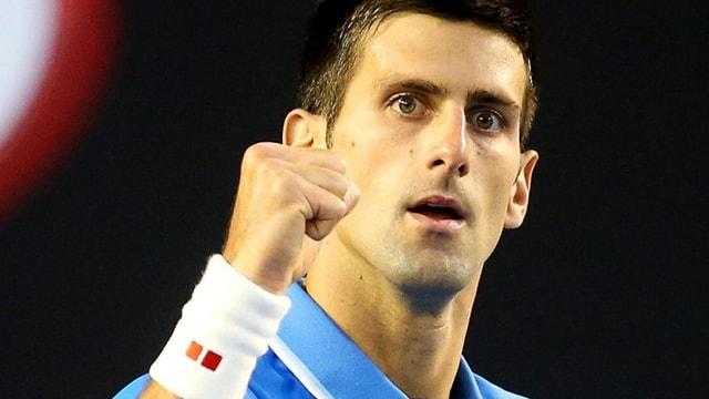 Novak Djokovic ballt die Faust.