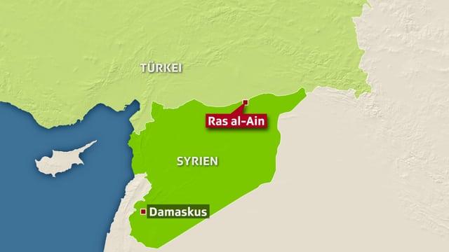 Ras al-Ain offenbar unter türkischer Kontrolle