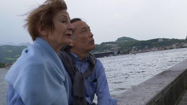 Ein Bild von Federica de Cesco und ihrem Mann Kazuyuki Kitamura.