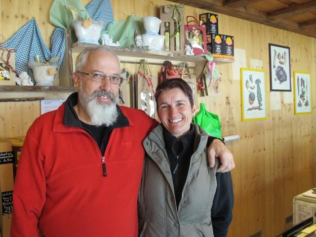 Das Ehepaar Martin und Susy Birrer vom Gummenhof in Niederwil SO.