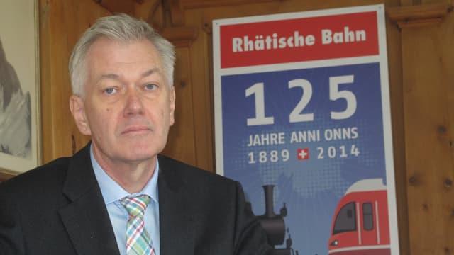 Hans Amacker im Anzug