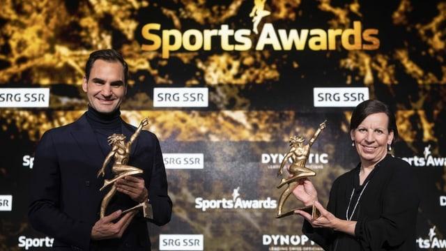 Roger Federer e Vreni Schneider.