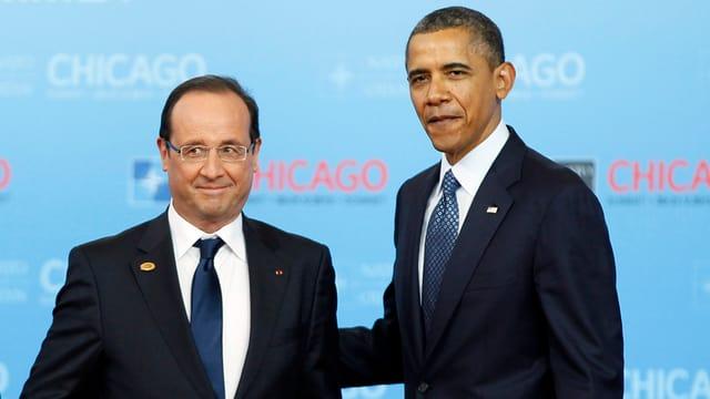 François Hollande und Barack Obama.