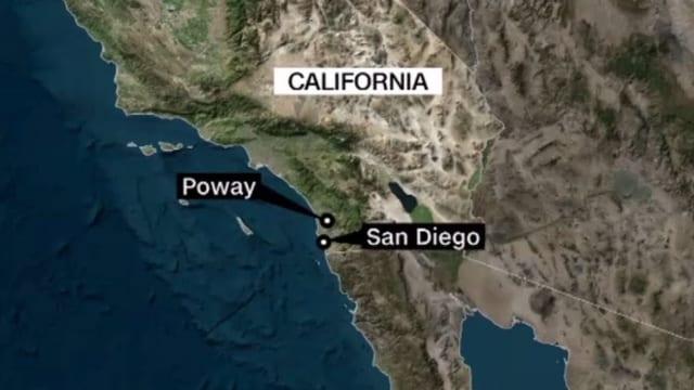 Karte Poway bei San Diego, Kalifornien
