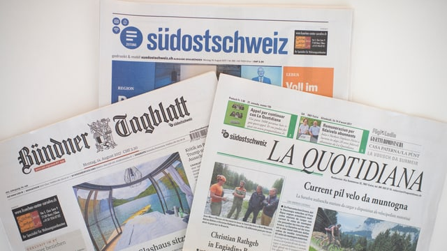 trais gasettas grischunas, Südostschweiz, Bündner Tagblatt, La Quotidiana