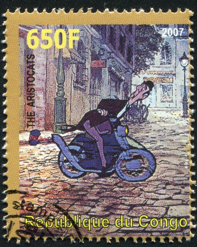 Briefmarke auf dem Edgar der Butler abgebildet ist