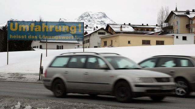 Transparent im Dorfrand von Silvaplana: Umfahrung heisst die Lösung.