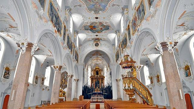 Innenraum der Klosterkirche Mariastein