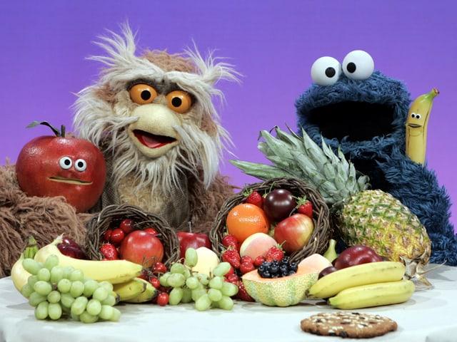 Das blaue Krümelmonster hat gelernt: «Obst tut jeder Zeit gut, Kekse isst man nur ab und zu».