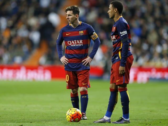 Messi und Neymar.