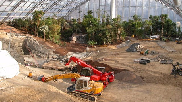 Bauarbeiten in der Masoala Halle