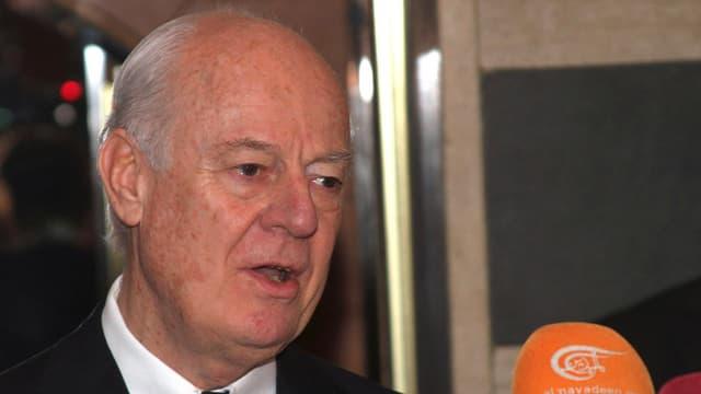 Purtret da Staffan de Mistura, l'incumbensà spezial da l'ONU en Siria.
