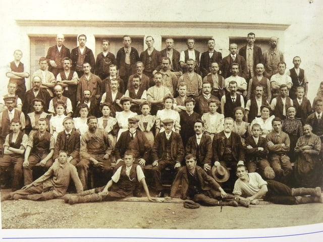 Belegschaft im Jahr 1900