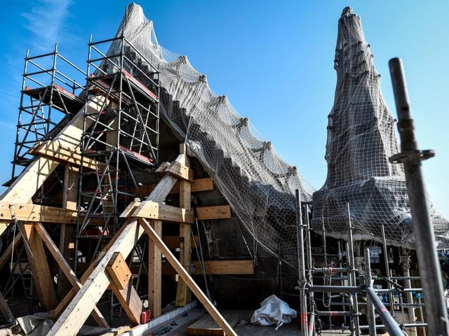 Bauarbeiten an Notre-Dame