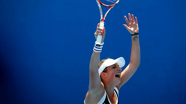 La giugadra da tennis svizra Timea Bacsinszky vi dal giubilar.