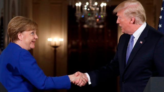 Angela Merkel e Donald Trump.