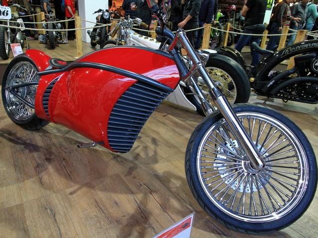 Ein Custom Motorrad.