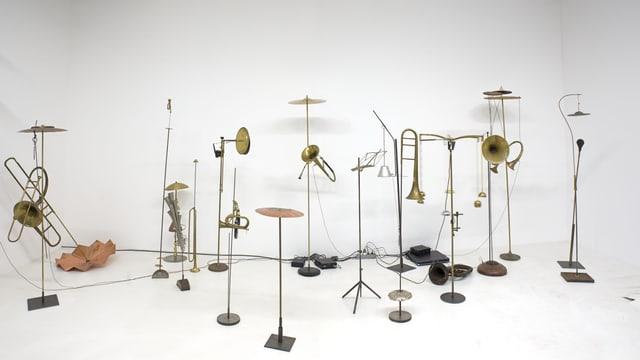 Die Künstlerin Katja Strunz präsentiert in der Ausstellung ihr Werk «Sound of the Pregeomatic».