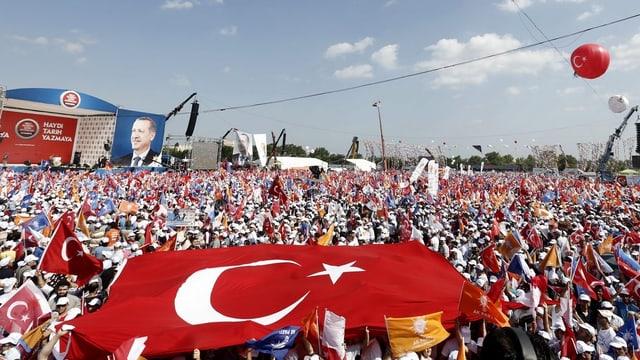 Kundgebung für Erdogan in Istanbul.