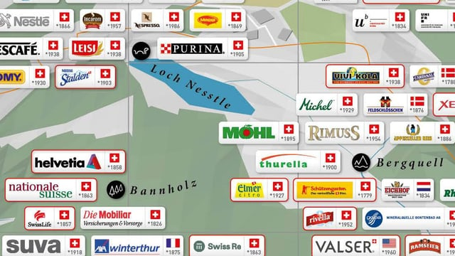 Ausschnitt der Schweizer Markenlandschaft