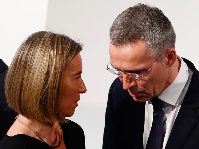 Federica Mogherini und Jens Stoltenberg (Archivbild vom 18. Februar anlässich der Münchner Sicherheitskonferenz).