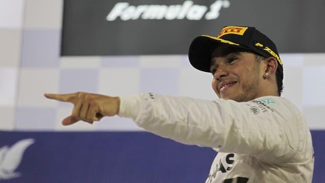 Lewis Hamilton nach seinem Sieg beim GP von Bahrain.