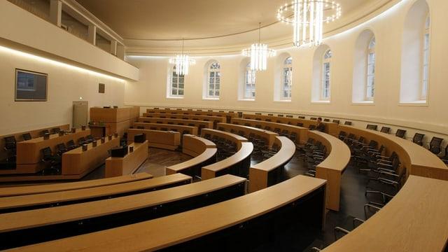 Der menschenleere Grossratssaal