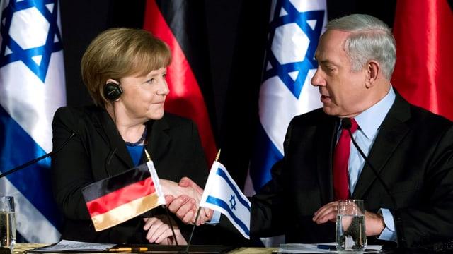 Merkel und Netanyahu am Regierungstreffen in Jerusalem