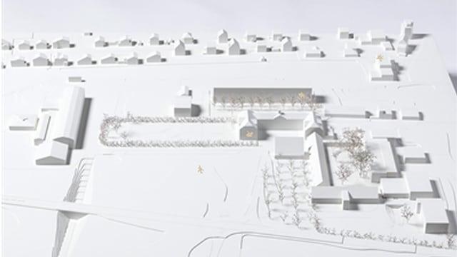 Modell dal project victur per la renovaziun dal Plantahof.