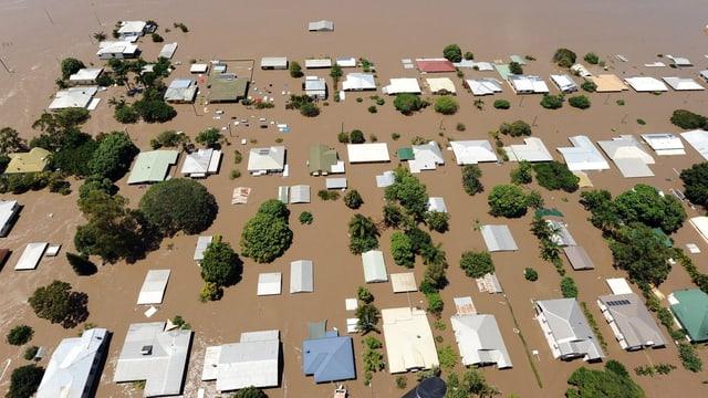 Überschwemmte Häuser in Australien