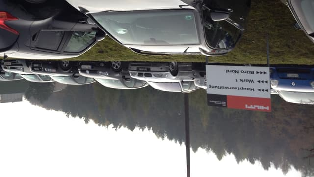 Der Hilti-Parkplatz in Schaan/FL. Schon bald sollen hier weniger Autos stehen.