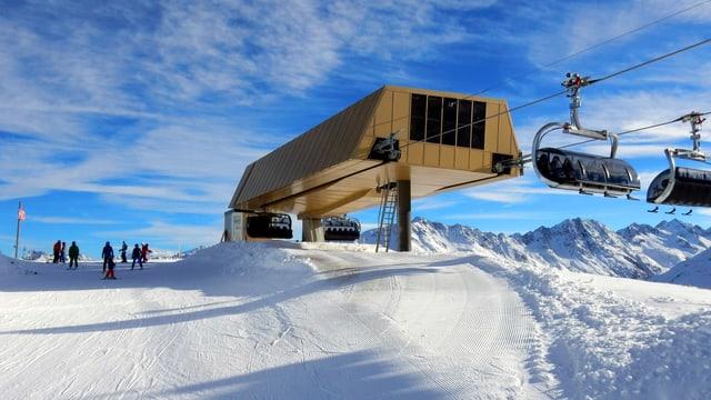 Skigebiet Andermatt-Sedrun mit Sessellift